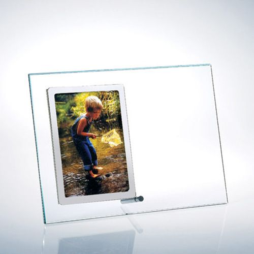 Awards and Recognition : Starfire Glass Vertical Silver Photo Frame